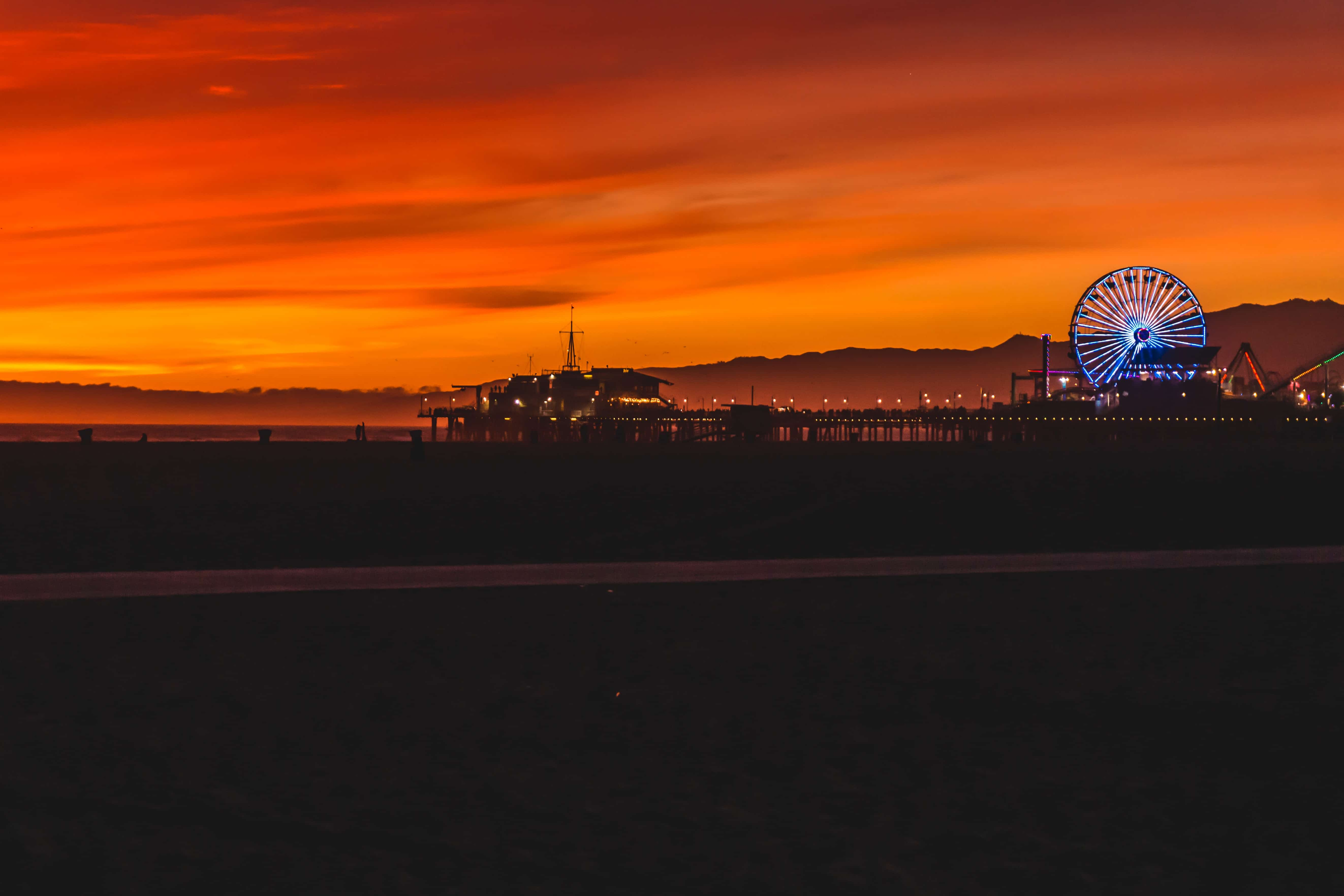 Santa Monica Pier at the golden hour